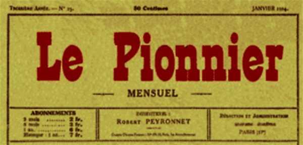 """Capçalera de """"Le Pionnier"""""""