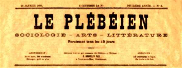 """Capçalera de """"Le Plébéien"""""""