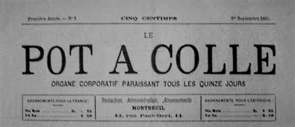 """Capçalera de """"Le Pot à Colle"""""""