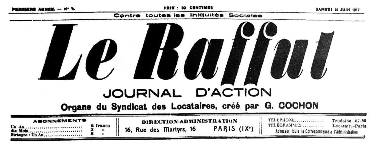 """Capçalera de """"Le Raffut"""""""