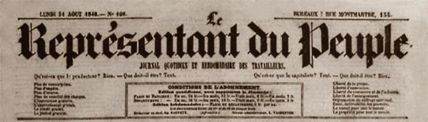 """Capçalera de """"Le Représentant du Peuple"""""""