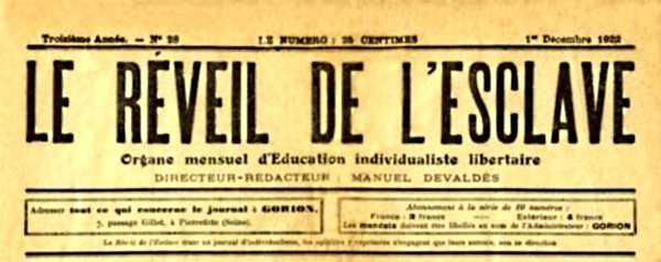 """Capçalera de """"Le Réveil de l'Esclave"""""""