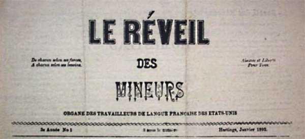 """Capçalera de """"Le Réveil des Mineurs"""""""