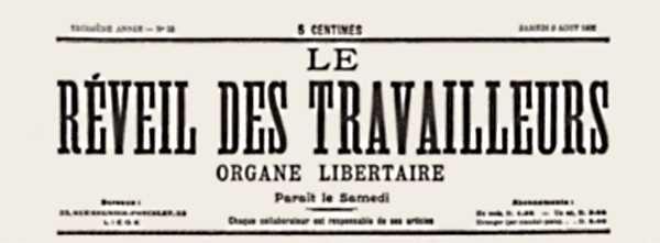 """Capçalera de """"Le Réveil des Travailleurs"""""""