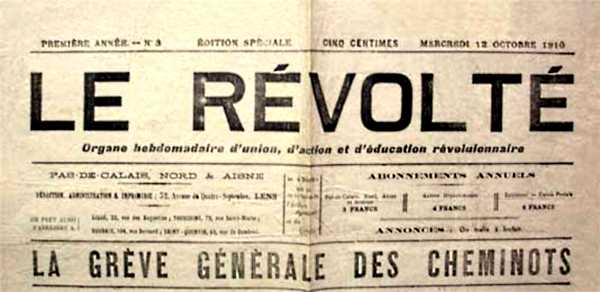 """Capçalera de """"Le Révolté"""""""