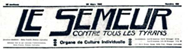 """Capçalera de """"Le Semeur"""""""