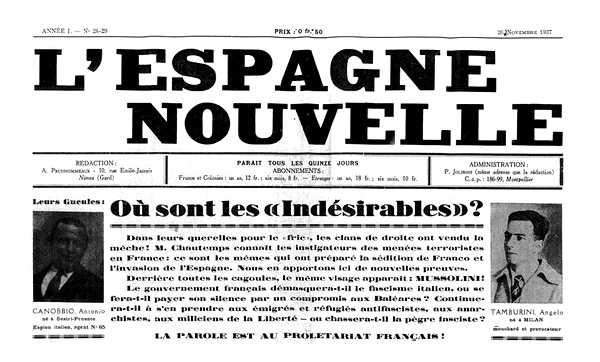 """Capçalera de """"L'Espagne Nouvelle"""""""