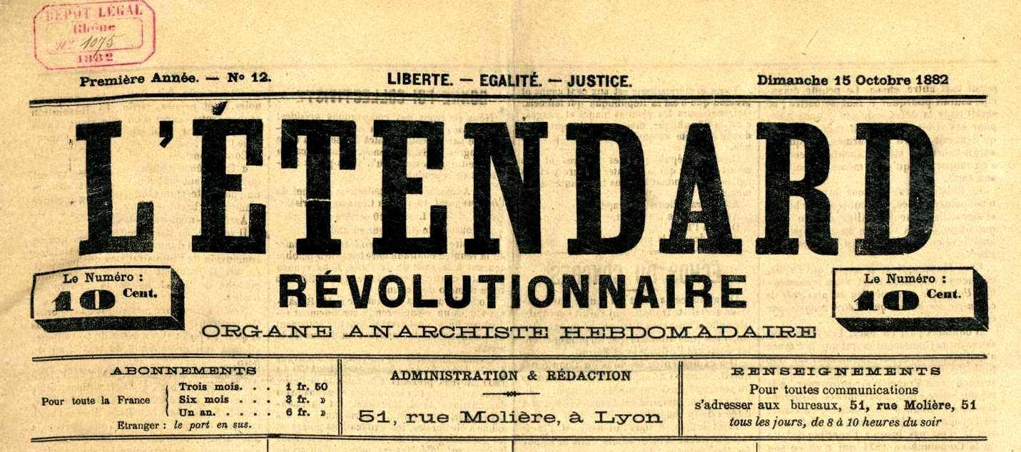"Capçalera de ""L'Étendard Révolutionnaire"""
