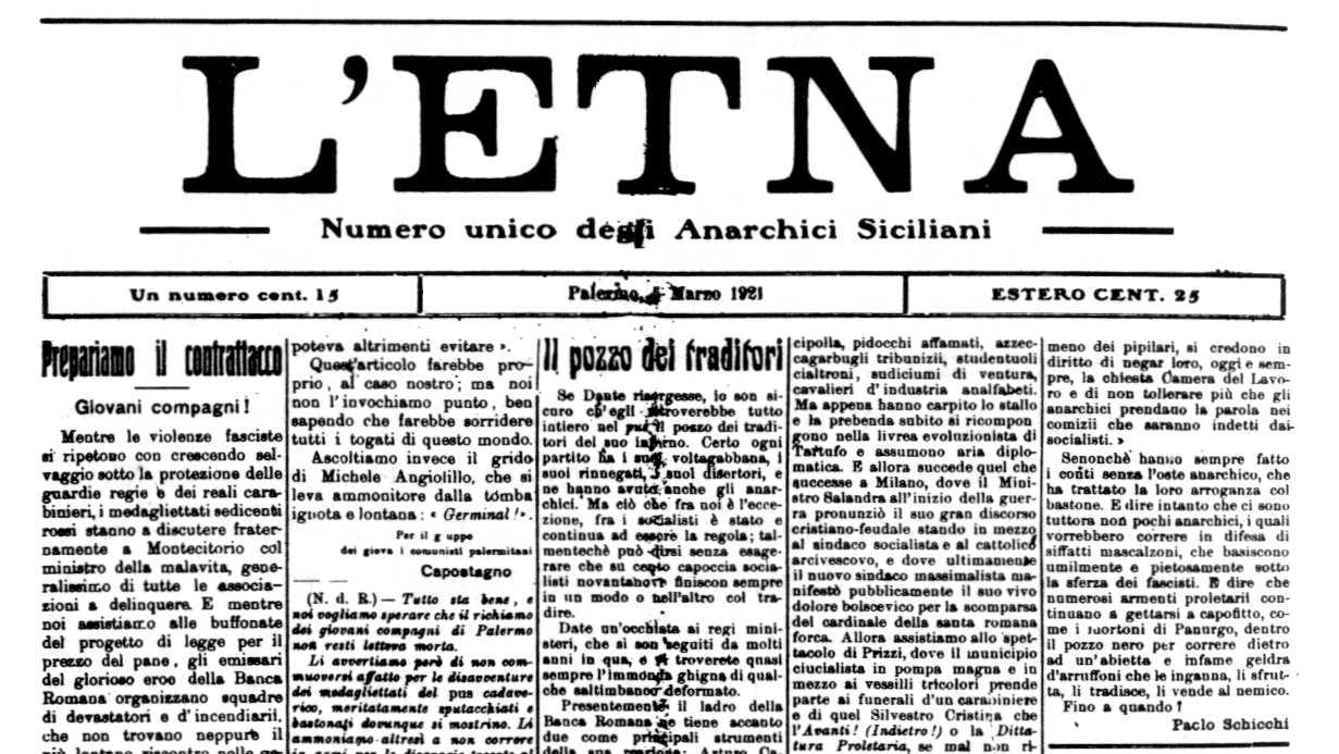 """Capçalera de """"L'Etna"""""""