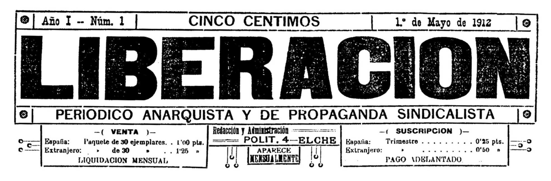 """Capçalera del primer número de """"Liberación"""""""