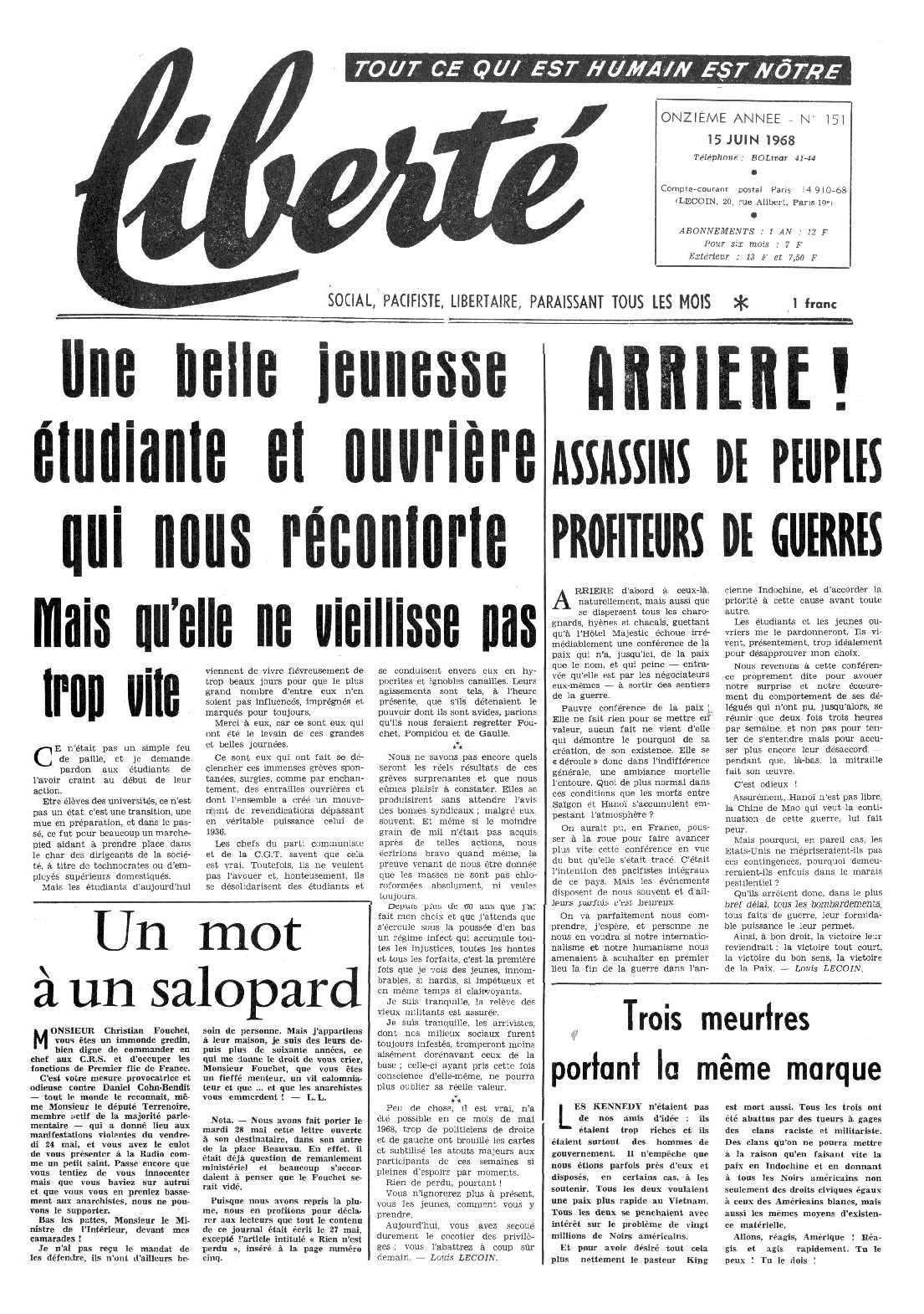 """Un exemplar de """"Liberté"""""""