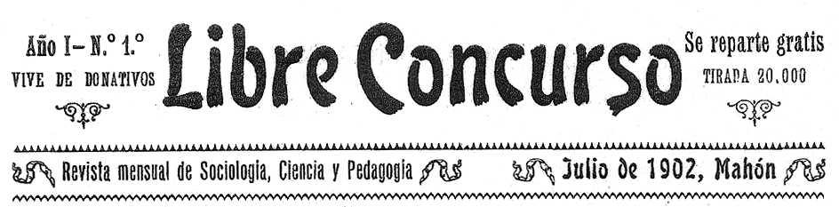 "Capçalera del primer número de ""Libre Concurso"""