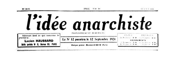 "Capçalera de ""L'Idée Anarchiste"""