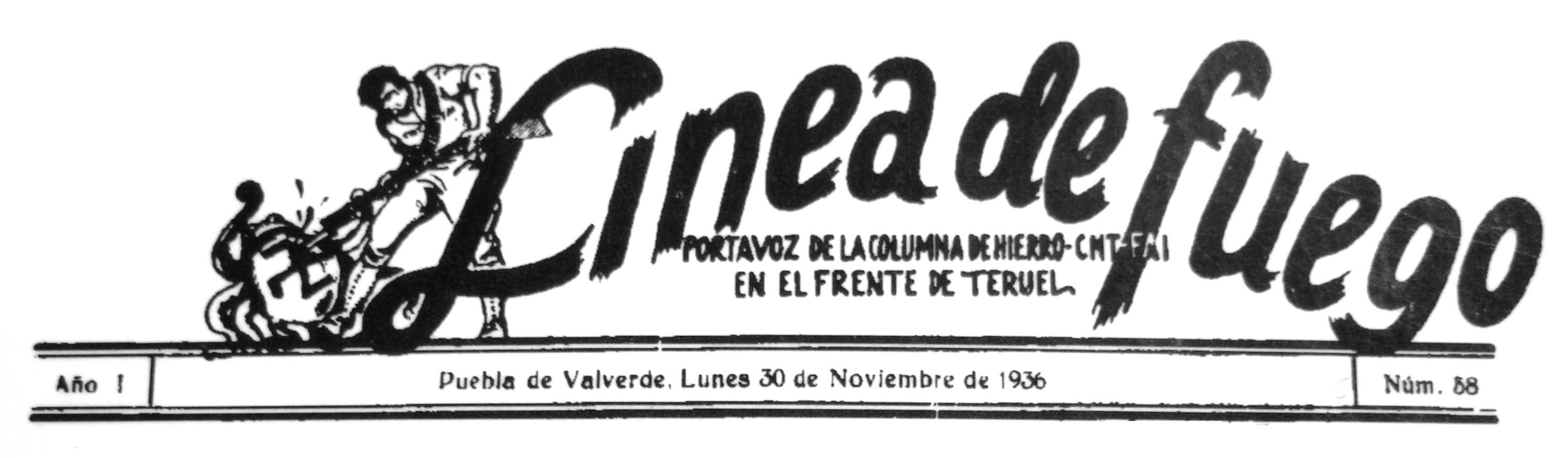 """Capçalera de """"Línea de Fuego"""""""