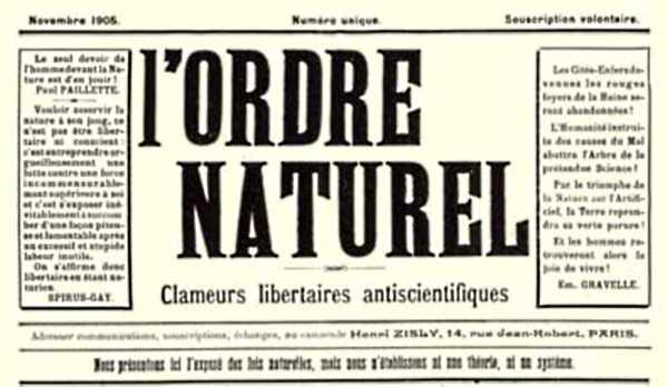"""Capçalera de """"L'Ordre Naturel"""""""