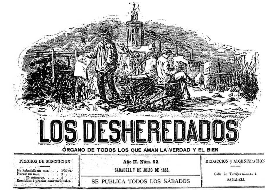 """Capçalera de """"Los Desheredados"""""""