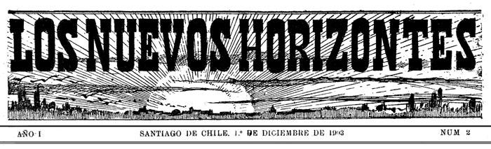 """Capçalera de """"Los Nuevos Horizontes"""""""