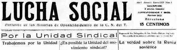 """Capçalera de """"Lucha Social"""""""