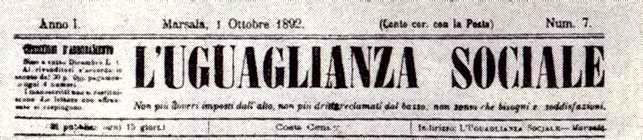 """Capçalera de """"L'Uguaglianza Sociale"""""""