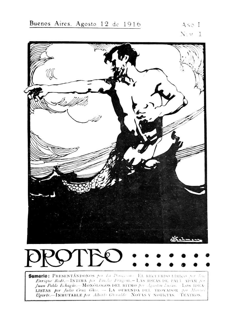 """Portada del primer número de """"Proteo"""""""