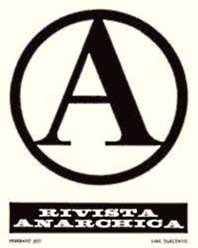 "Portada del primer número de ""Rivista Anarchica"""