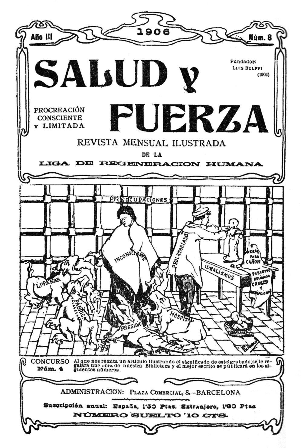 """Portada d'un número de """"Salud y Fuerza"""""""
