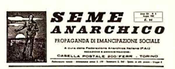 """Cabecera de """"Seme anarchico"""""""