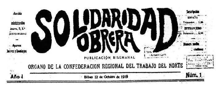 """Capçalera de """"Solidaridad Obrera"""""""