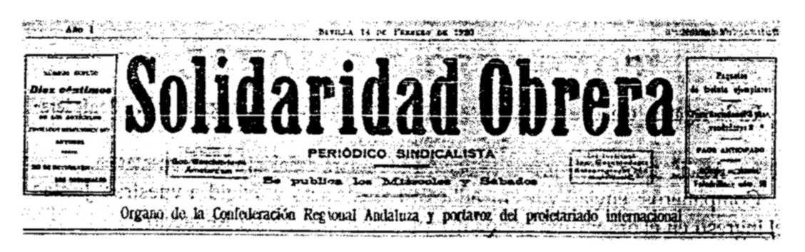 """Cabecera de """"Solidaridad Obrera"""""""