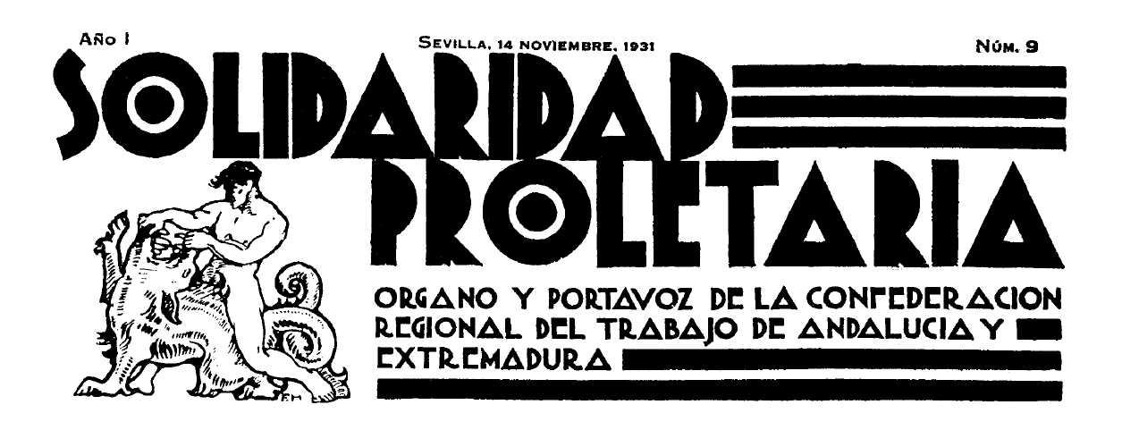 """Capçalera de """"Solidaridad Proletaria"""""""