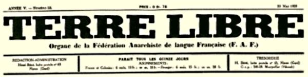 """Capçalera de """"Terre Libre"""""""