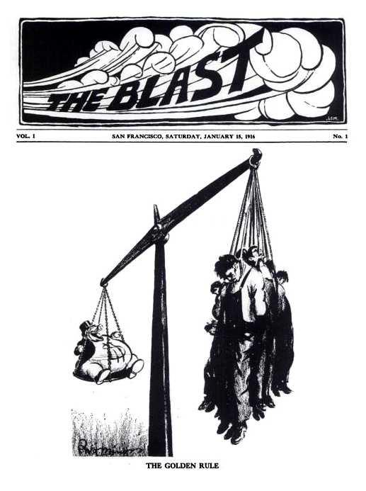 """Portada del primer número de """"The Blast"""""""