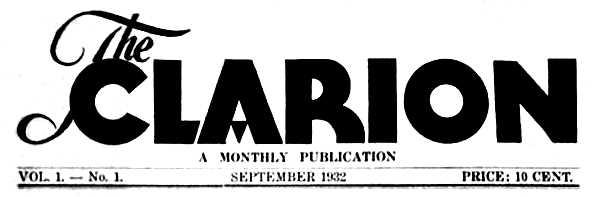 """Capçalera del primer número de """"The Clarion"""""""