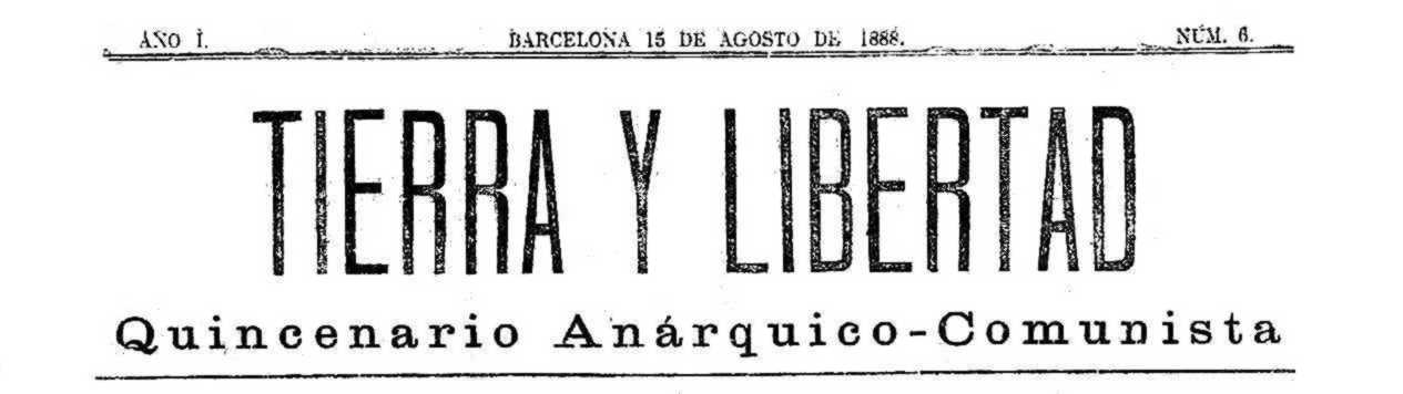 """Cabecera de """"Tierra y Libertad"""""""