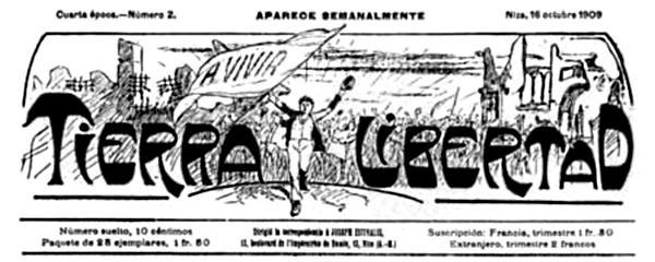"""Capçalera de """"Tierra y Libertad"""""""