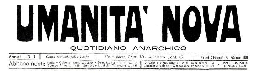 "Micelli treballà en ""Umanità Nova"""