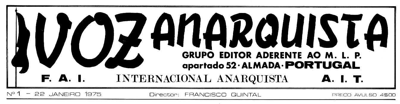 """Capçalera del primer número de """"Voz Anarquista"""""""