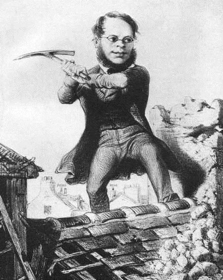 """Proudhon """"destructor"""" de la societat. Dibuix d'Honoré Daumier"""