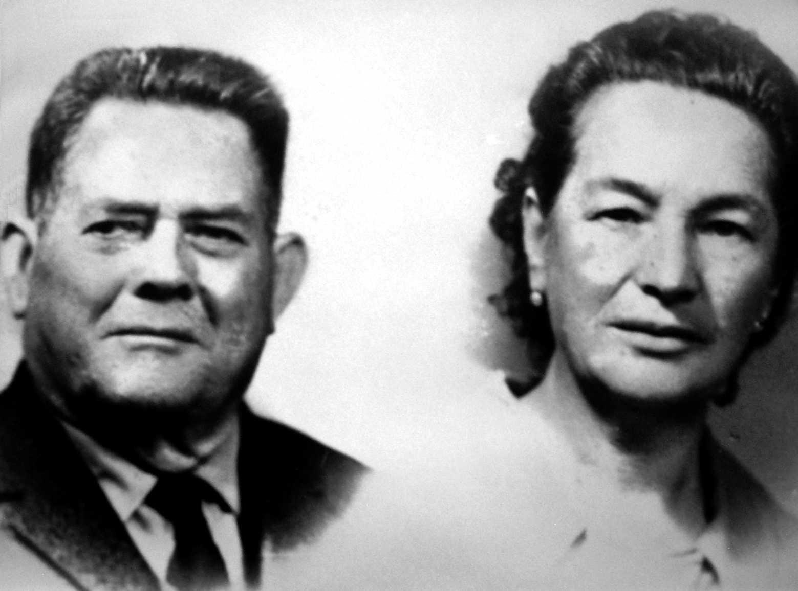 Secundino Pruñonosa Ferreres i la seva companya Magdalena Palomo
