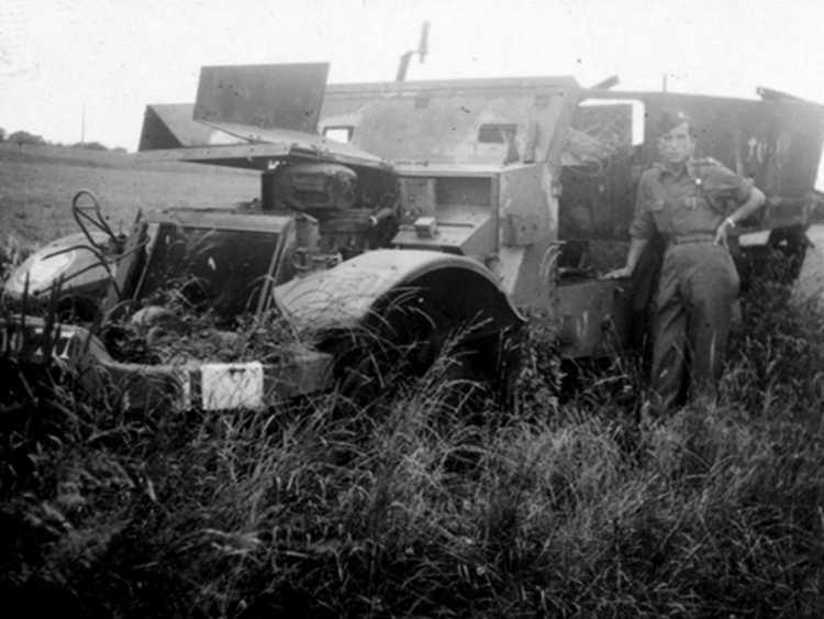 Fermín Pujol Araus després de la batalla de Châtel-sur-Moselle