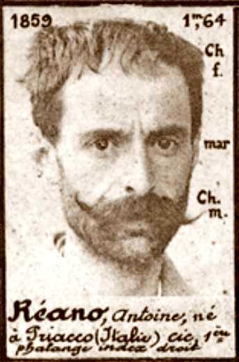Foto policíaca d'Antonio Reano (1894)