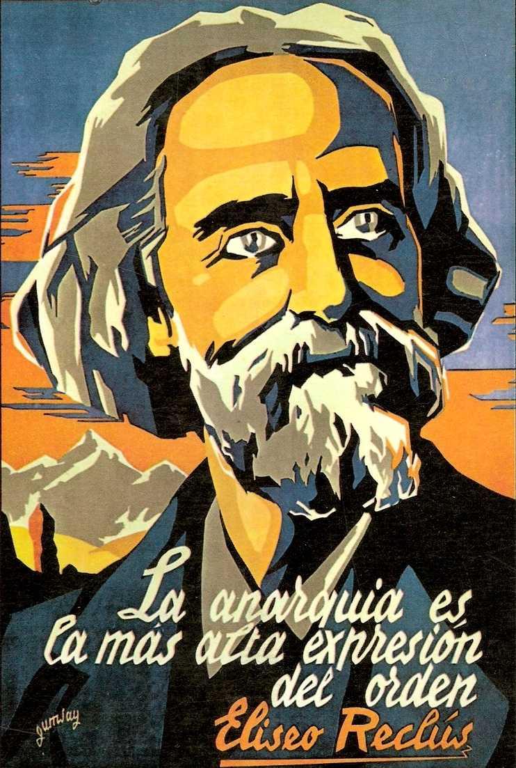 Cartell realitzat per Gumsay per a les Joventuts Llibertàries de Catalunya