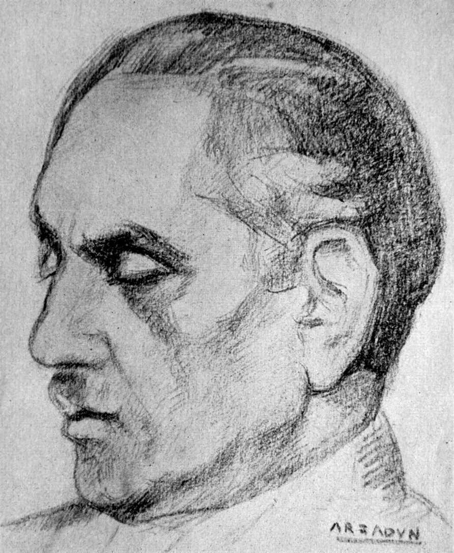 Eugen Relgis dibuixat per Carmelo de Arzadun (1949)