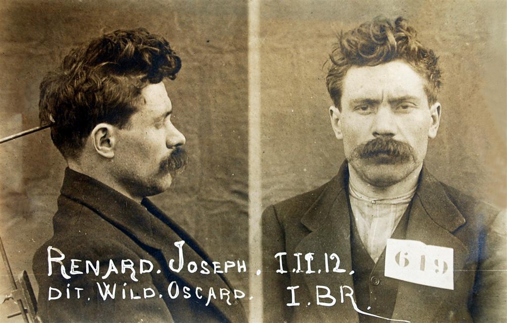 Foto policíaca de Joseph Renard (1 de febrer de 1912)