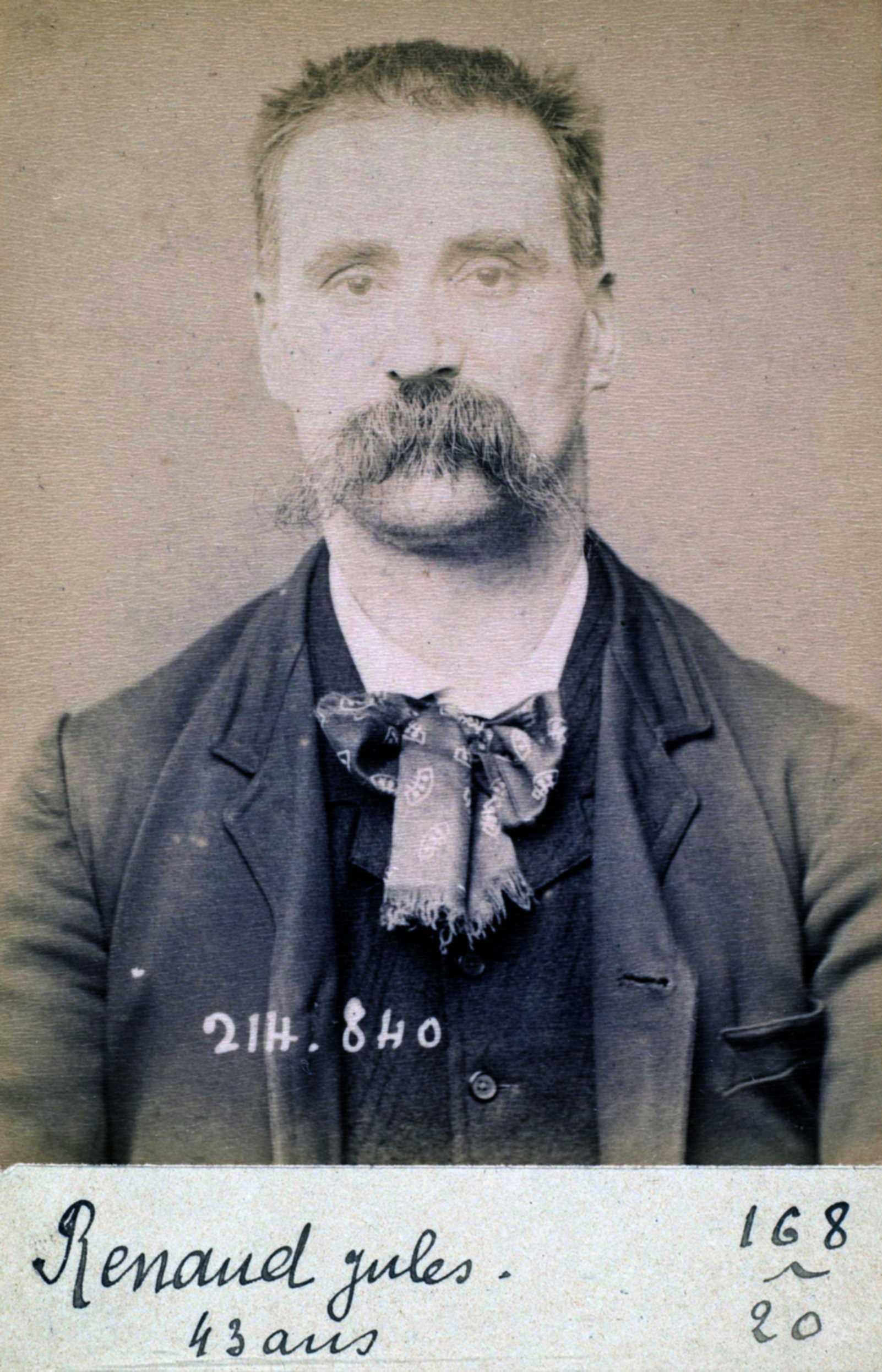 Foto policíaca de Jules Renaud (27 de febrer de 1894)