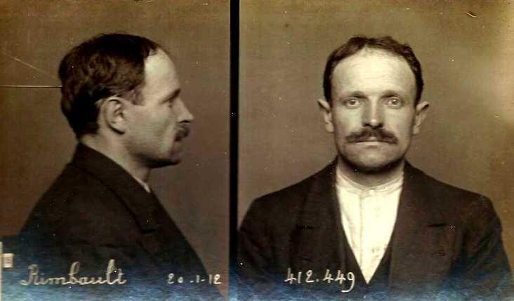 Foto policíaca de Louis Rimbault (1912)