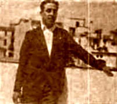 Càndid Ros Llimona al terrat de casa seva
