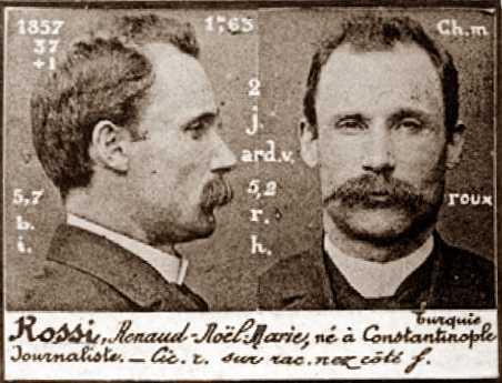 Foto policíaca de Renaud Rossi (ca. 1894)