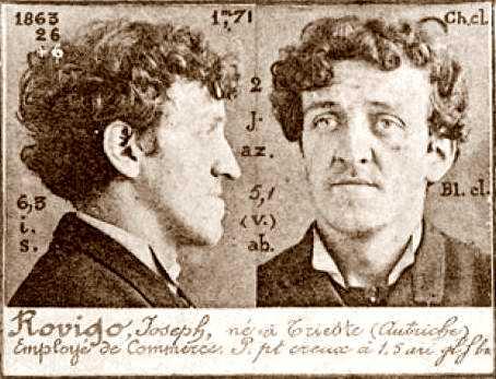 Foto policíaca d'Hiskia Giuseppe Rovigo (1894)