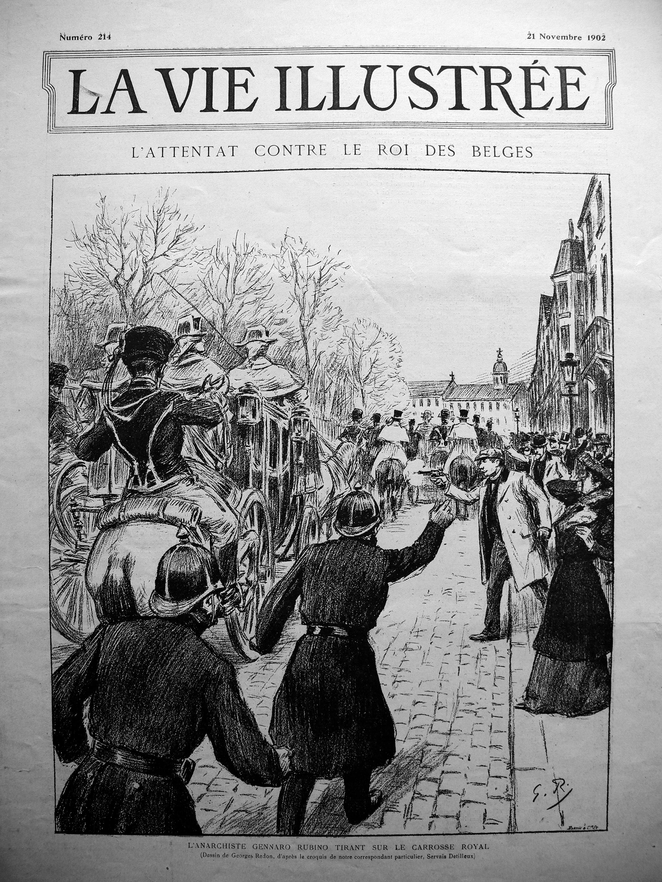 """L'atemptat de Rubino segons """"La Vie Illustrée"""", núm. 214, del 21 de novembre de 1902"""